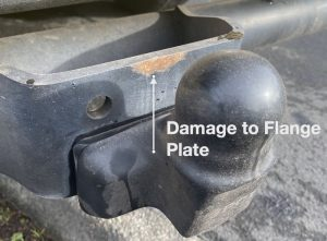 Damage to Towball Flange